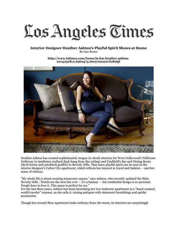 LosAngelesTimes Hollywood  Bungalow
